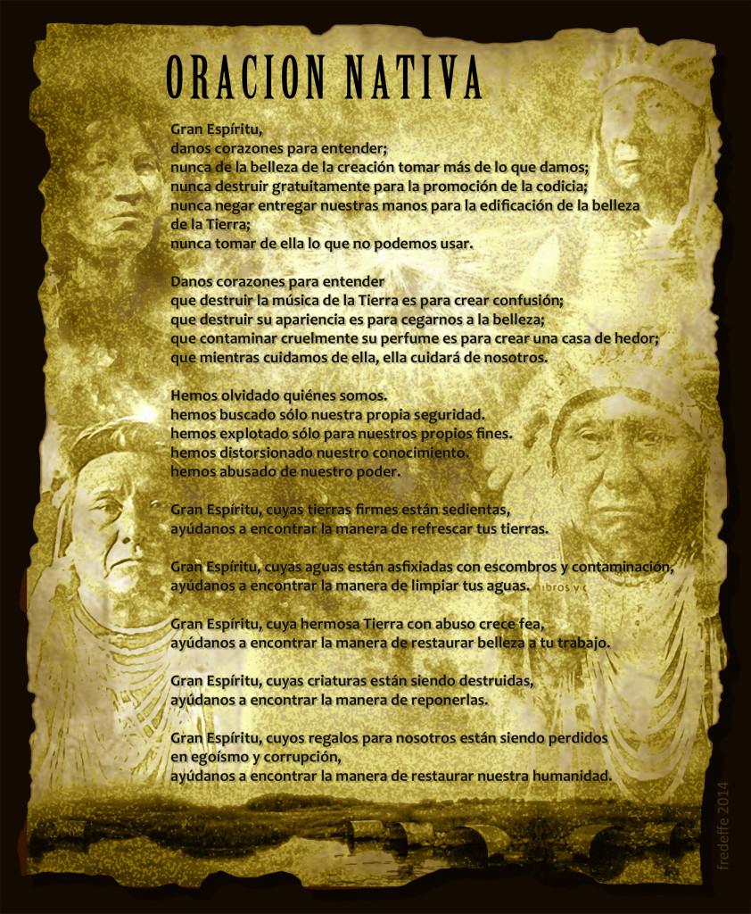 Sabiduria nativa, oracion para el gran Espiritu y la madre tierra